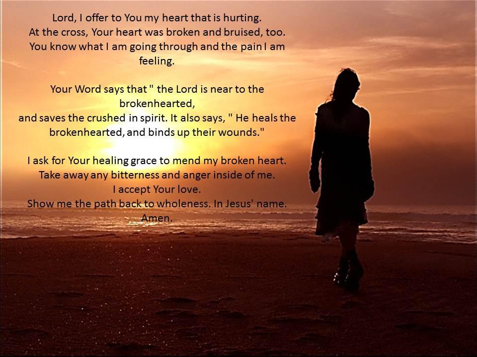 Prayer when heartbroken ~ Daily Online Prayer Guide