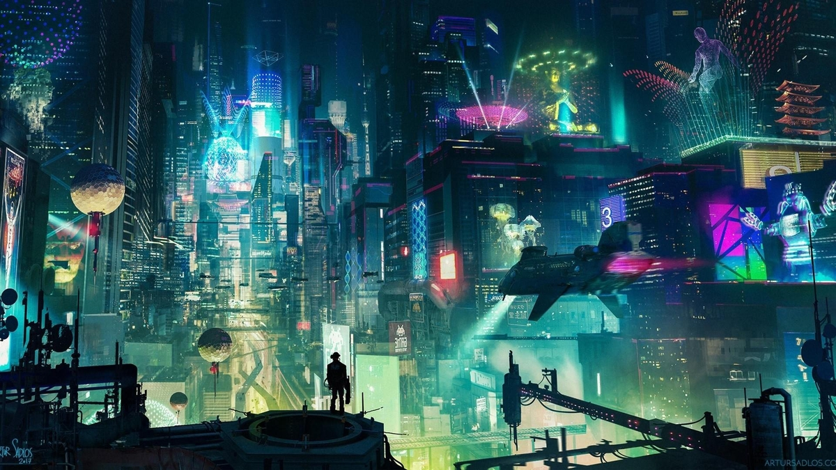 05-Cyberpunk-City-Looks-like-Blade-Runner-Quentin-Fantasy-Digital-Illustrations-with-a-bit-of-Surrealism-www-designstack-co