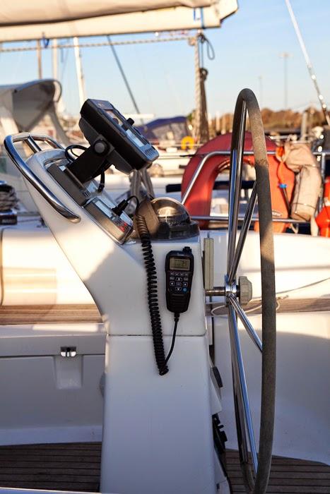 iCom håndsett til VHF montert på pidestall