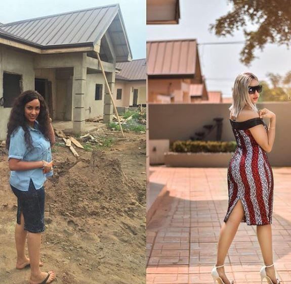 Juliet Ibrahim completes her new house in Ghana, shares touching story of how she rose from being a refugee to celebrity