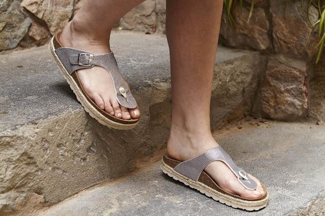 Sandalias plata plataforma yute