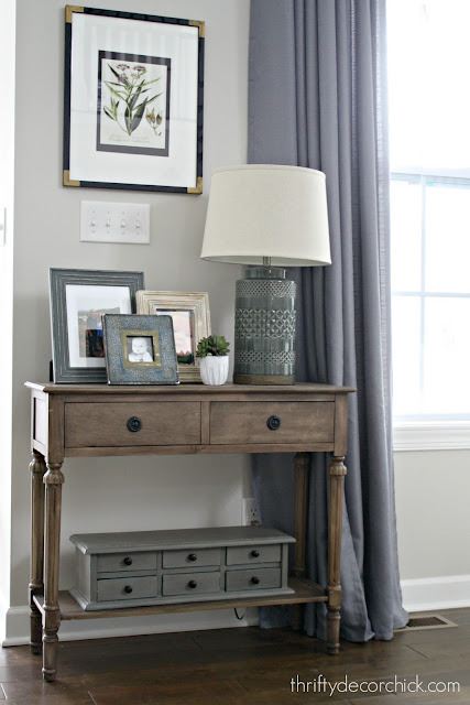 small table with lamp