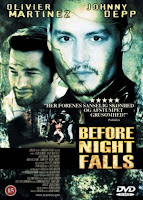 Antes que anochezca. Before night falls, poster