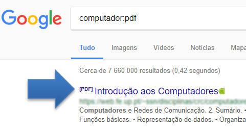 pesquisa de pdf no google