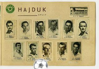 Hajduk Split album sličice Album sportskih fotografija stadion 1952/53