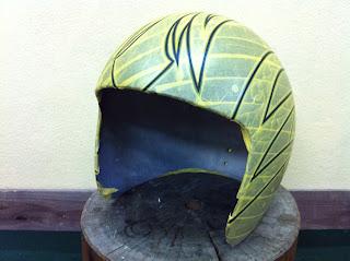 898997914 - カスタムペイント工程  ジェットヘルメット スカル クリアースピニング