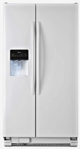 Energy Star Amana ASD2575BRW 25.5 CF White Side-By-Side Refrigerators