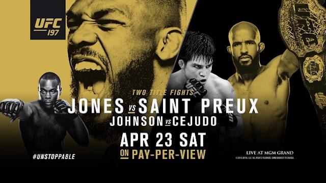 O UFC 197 acontece na noite deste sábado, a partir das 19:30h