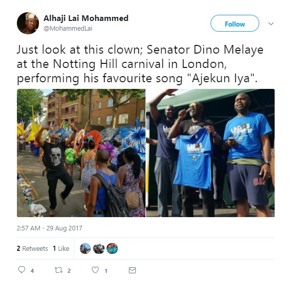 Dino Melaye Is A Clown – Lai Mohammed (Photos)