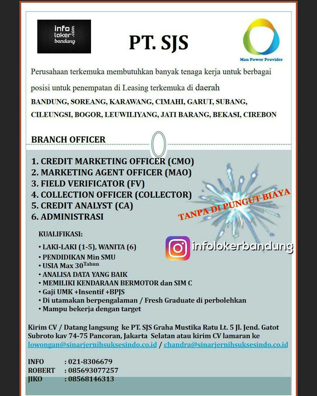 Lowongan Kerja PT. Sinar Jernih Suksesindo Juni 2017