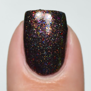black with shimmer nail polish