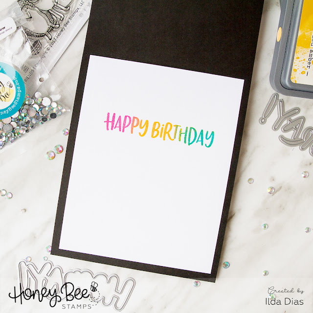 Surprise Slider Birthday Celebration Card for Honey Bee Stamps 3rd Anniversary by ilovedoingallthingscrafty