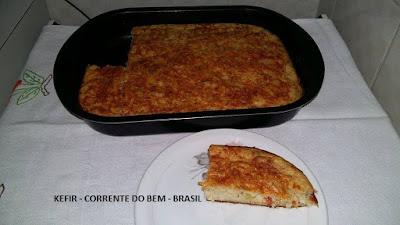 TORTA SALGADA COM KEFIR DE LEITE