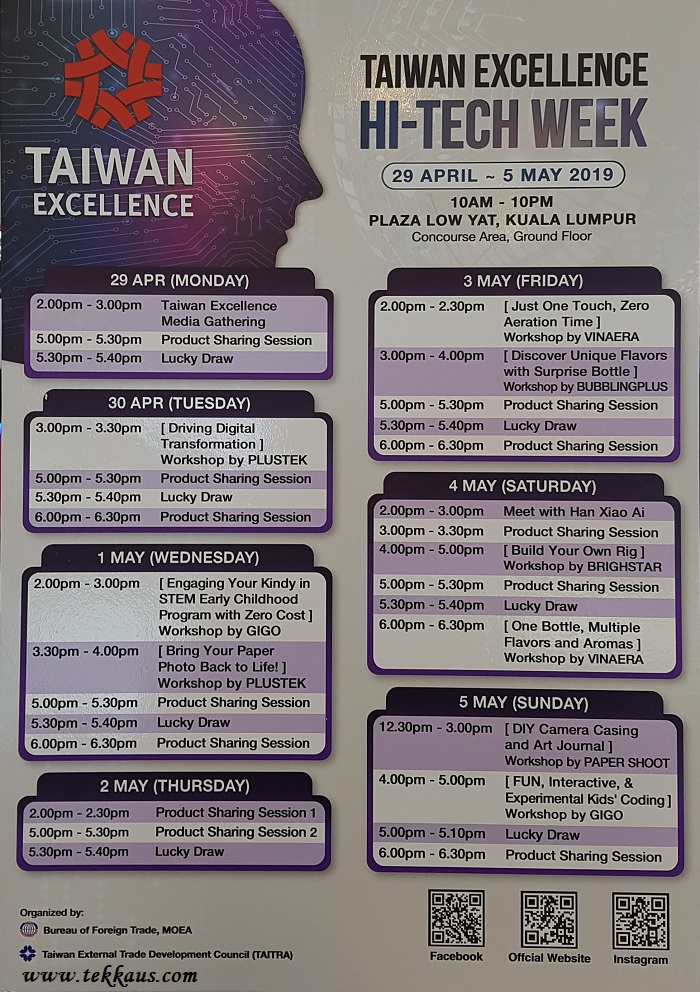 Taiwan Excellence Hi-Tech Week Plaza Low Yat Activities