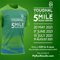 Youghal AC 5-mile race series - 3rd Thurs of May, June, Jul & Aug 2021