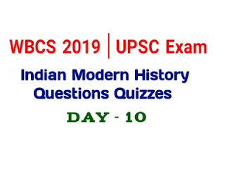Indian Modern History Questions Questions Quizzes