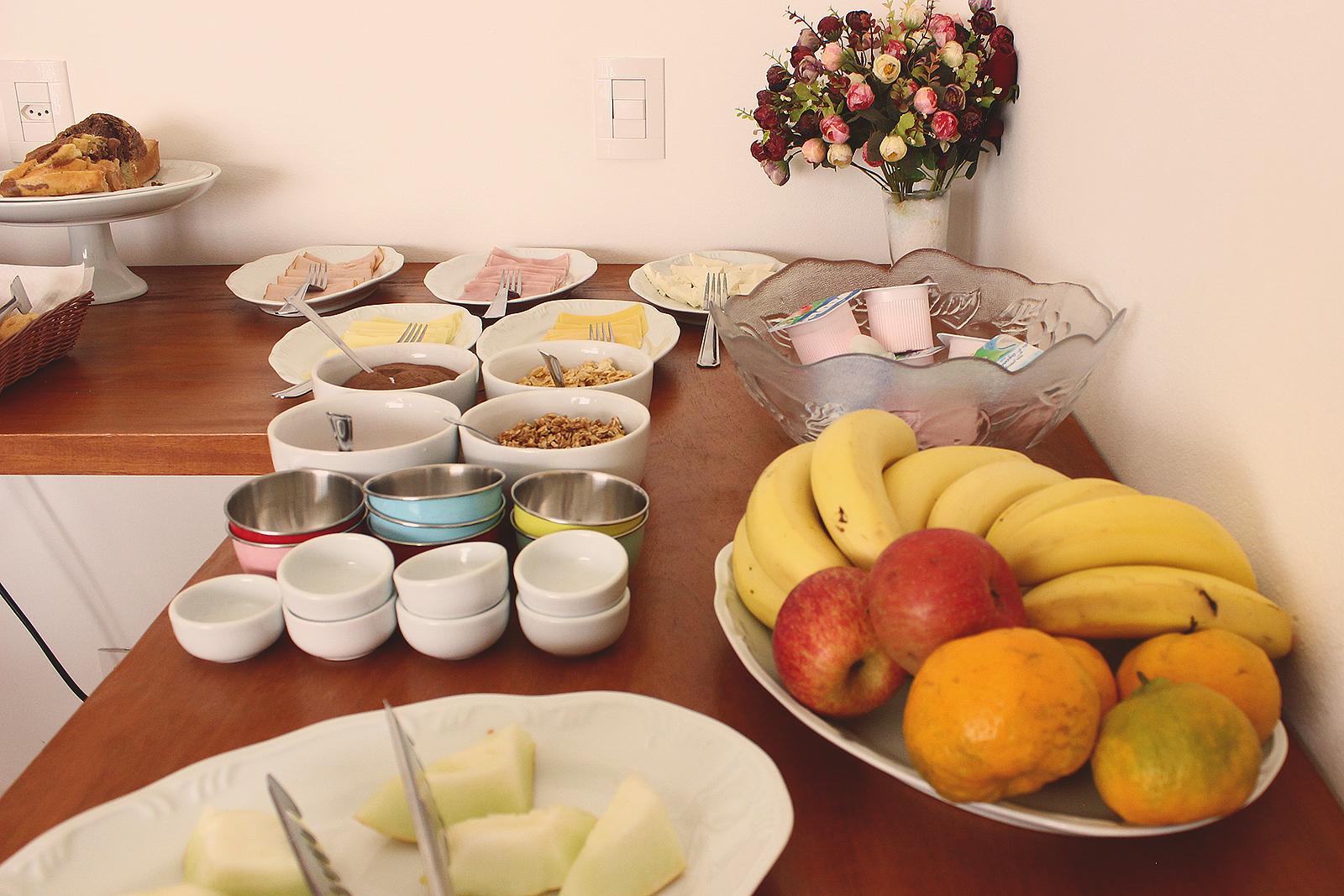 café da manhã em pousada