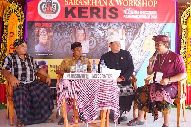 Workshop Tata Rias dan Sarasehan Keris Digelar di Puri Agung Siangan, Gianyar