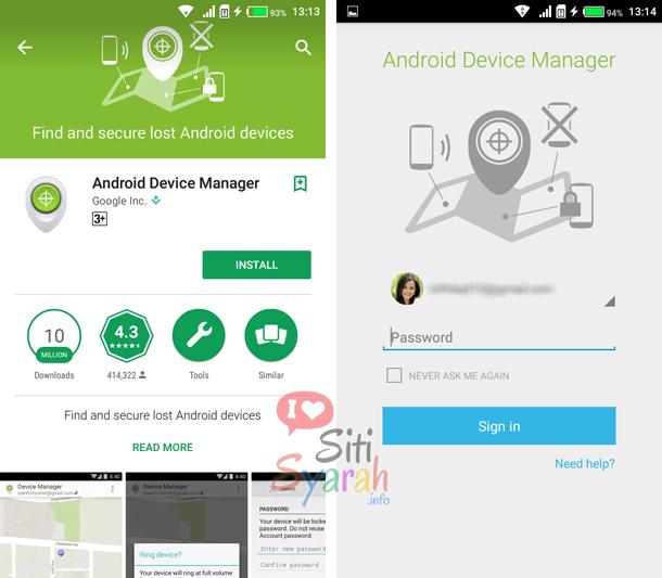 lacak android dengan aplikasi