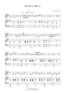 Free Violin And Piano Sheet Music Wedding March By Peter Edvinsson