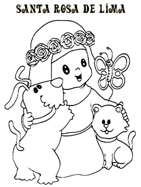 Dia de la educacion inicial imagenes para colorear imagui for St rose of lima coloring page