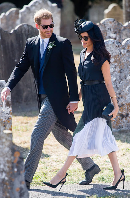 Meghan markle outfits mariafelicia magno fashion blogger color block by feyly outfit moglie harry duchessa Sussex