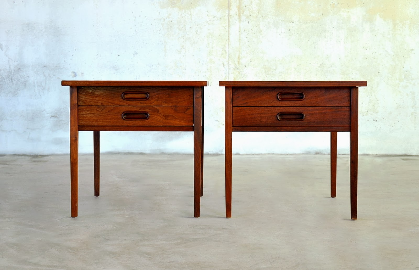 Select Modern Pair Of Danish Modern Nightstands Side Or