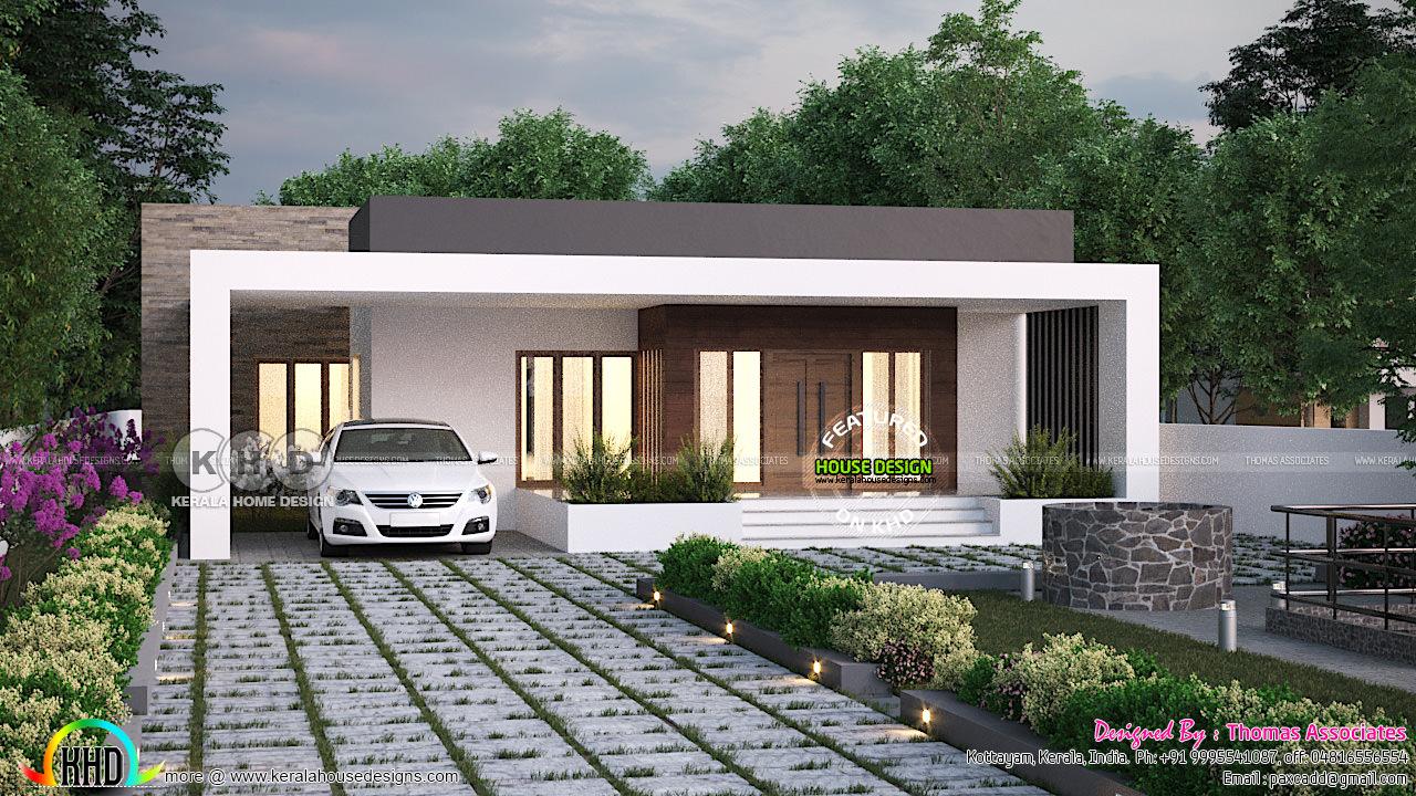 1350 sq-ft Box type single floor house - Kerala home ...