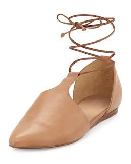 wiązane buty l nude obuwie