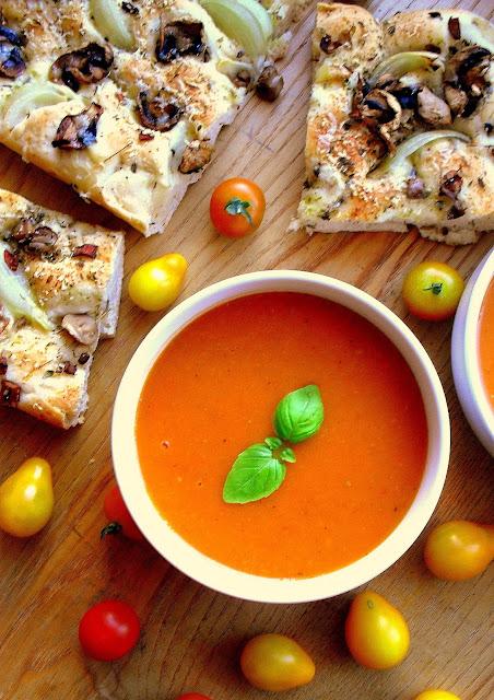 Zupa z pieczonych pomidorów / Roasted tomato soup