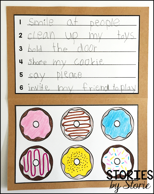 An option for half a dozen ways to show kindness has been included for younger students.
