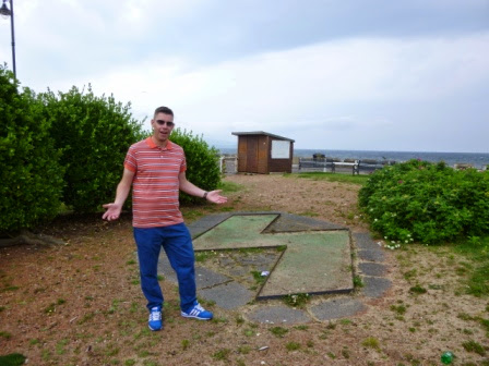 Derelict Miniature Golf course on Ayr seafront in Scotland