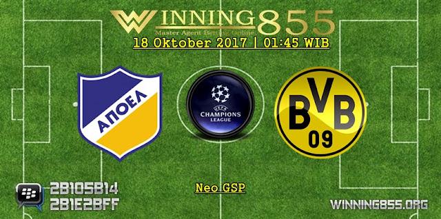 Prediksi Skor Apoel vs Borussia Dortmund 18 Oktober 2017