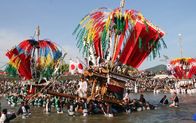 River Crossing Festival, Tagawa City, Fukuoka Pref.