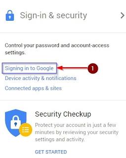 Signing Into Google Pe click kar de