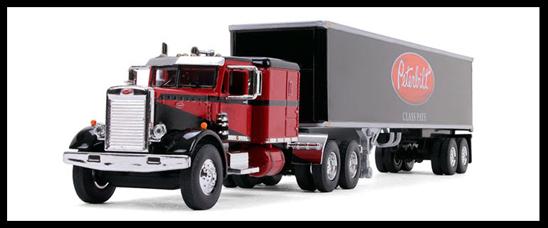 1:64 Scale Peterbilt model 351 with 40' vintage reefer trailer