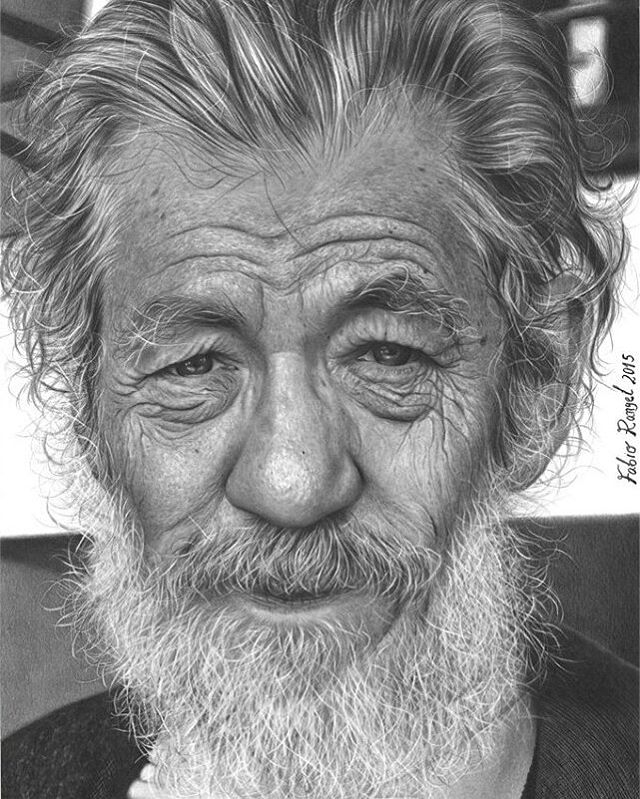 15-Ian-McKellen-Fabio-Rangel-Drawings-of-Protagonists-from-TV-and-Movies-www-designstack-co