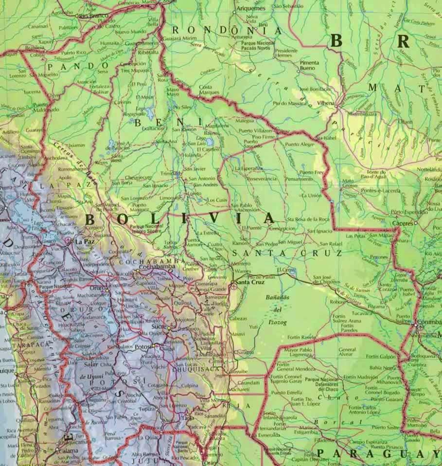 Bolívia | Mapas Geográficos da Bolívia