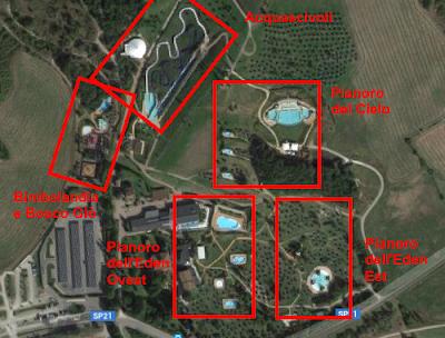 Mappa dall'alto Aquapark della Salute Più