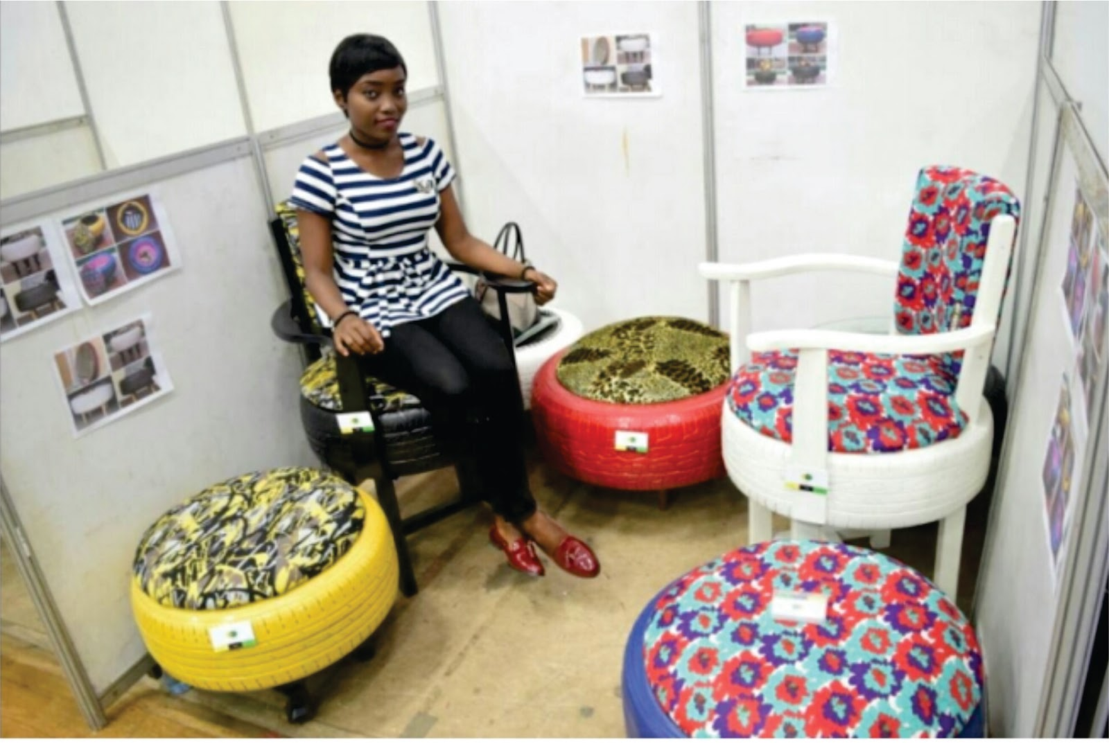 A Lady Simply Identified As Banke Is The Rave Of Moment After Her Creative Skill Was Specially Recognized At Second Edition Lagos State Micro