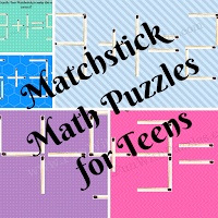 Matchstick Math Brain Teasers for Teens with Answers