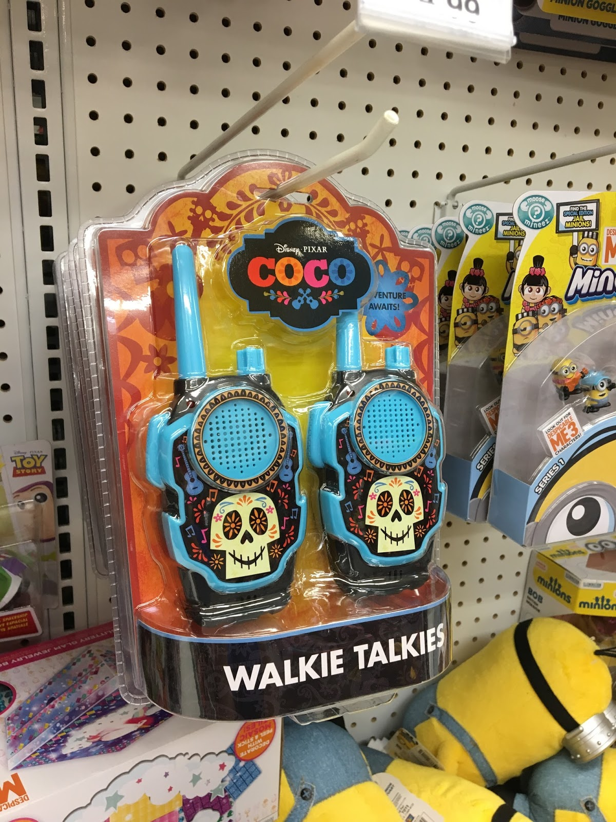 pixar coco toys walkie talkies