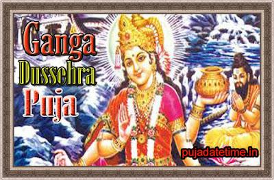 2018 Ganga Dussehra Puja Date