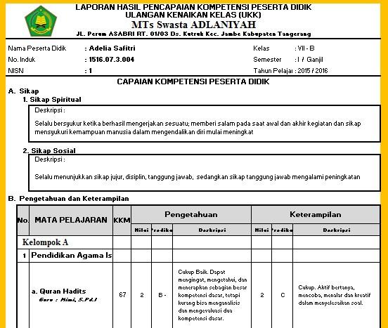 Download Aplikasi RAPORT Kurikulum 2013 ( RAPORT K13 ...