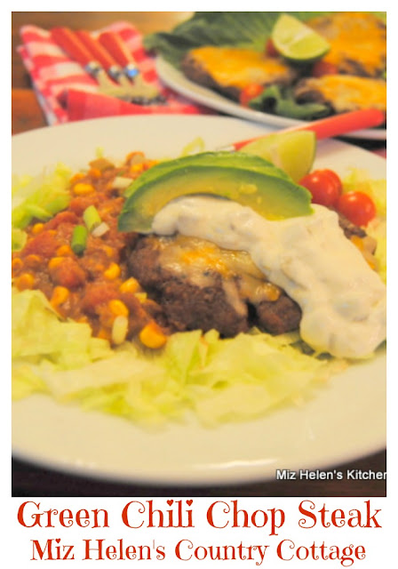 Green Chili Chop Steak at Miz Helen's Country Cottage