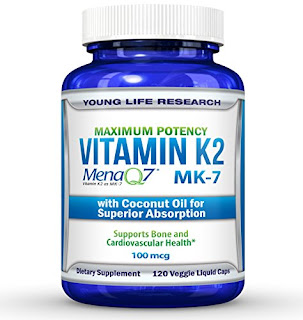 Vitamin K2 MK7 - MenaQ7 and Organic Coconut Oil