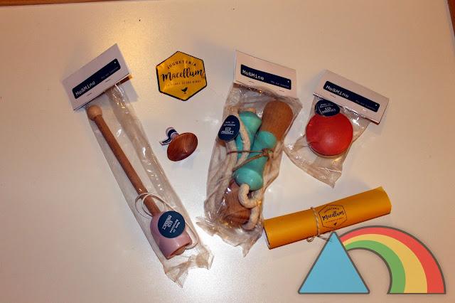Conjunto de juguetes clásicos de madera de la marca Me&Mine