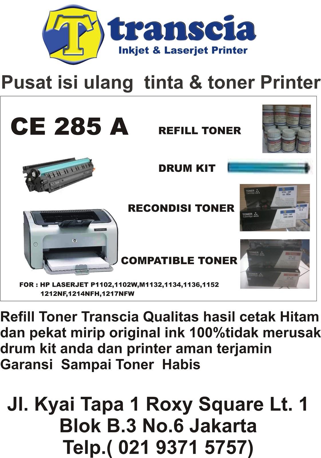 Refill Tinta Toner Printer Inkjet Laserjet Canonhpepsonbrather Hp P1102 M1132 Compatible For P11021102wm1132 11341136111212nf1214nfh1217nfw