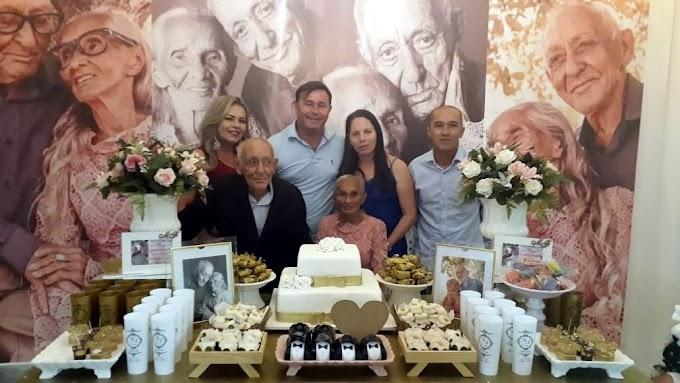 Vereadora Irani Antunes prestigia Bodas de Telurita, 62 anos de união do Sr Francisco Manoel e a Sr. Maria Paiva