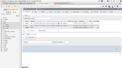 belajar membuat database mysql dengan php